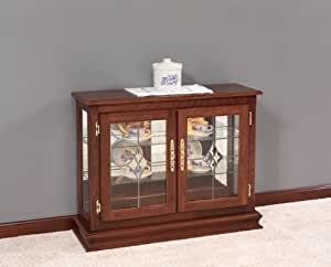 kitchen curio cabinet amish small console curio cabinet home amp kitchen 21629