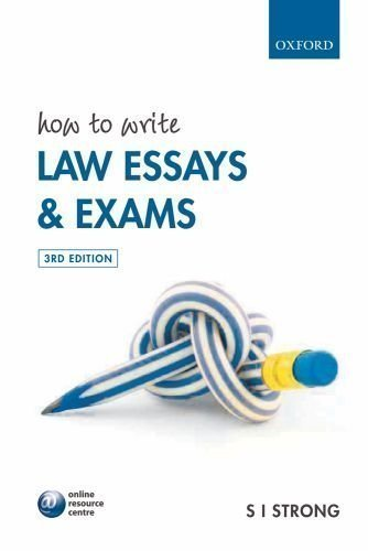 s i strong how to write law essays Free pdf download books by s i strong how to write law essays and exams provides law students with a practical and proven method of analysing and answering essay and exam questions.