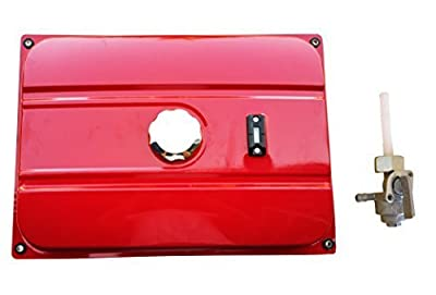 New Red Universal Generator 7 Gallon Gas Fuel Tank With Chrome Cap And Fuel Valve Fits 26.5 Liters