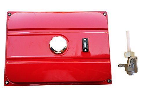 NEW RED UNIVERSAL GENERATOR 7 GALLON GAS FUEL TANK WITH CHROME CAP AND FUEL VALVE FITS 26.5 LITERS (Chrome Generator)