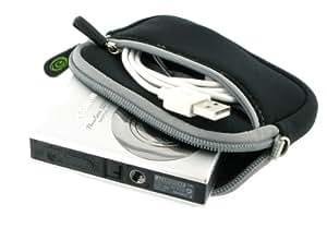 Neoprene Sleeve Case (Black) for Canon PowerShot SD1400IS 14.1 MP Digital Camera Black