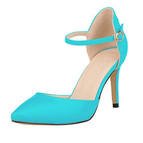 Wedding Blue Hooh Cinturino Sdandal orsay Alla D Women's Caviglia Stilleto OUAqwTHUz
