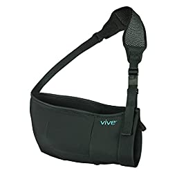Arm Sling by Vive - Medical Sling for Broken & Fractured Bones - Adjustable Arm, Shoulder & Rotator Cuff Support - For Subluxation, Dislocation, Sprains, Strains and Tears