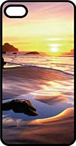 Beach Sunrise Black Plastic Case for Apple iPhone 4 or iPhone 4s