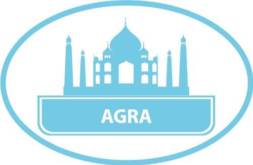 Agra India Taj Mahal Historical National Travel Bumper Sticker Decal 5