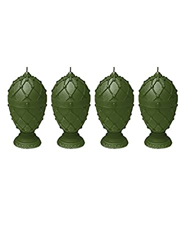 Candellana Candles 5903104800345 Faberge Egg Small Candles Set of 4 Dark Green 4 Piece