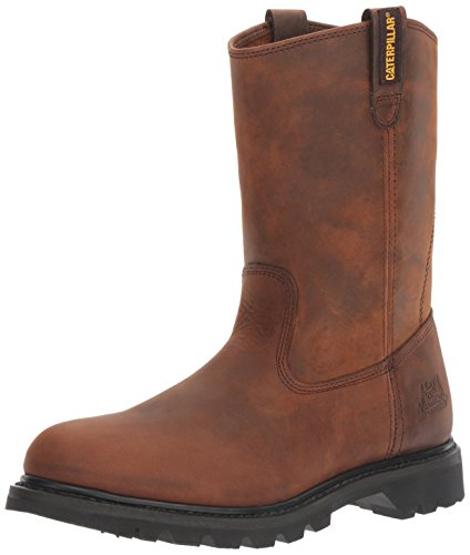 Men Wellington Boots - Caterpillar Men's Revolver Pull-On Soft Toe Boot,Wellington Dark Brown,13 M US