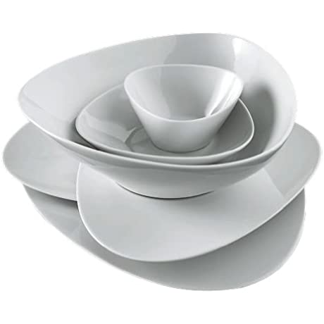 Alessi Colombina 8 1 4 Inch By 7 Inch Soup Plate White Porcelain Set Of 6