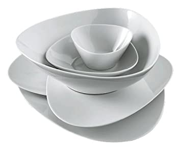 Alessi Colombina 8-1/4-Inch by 7-Inch Soup Plate  sc 1 st  Amazon.com & Alessi Colombina 8-1/4-Inch by 7-Inch Soup Plate White Porcelain Set of 6