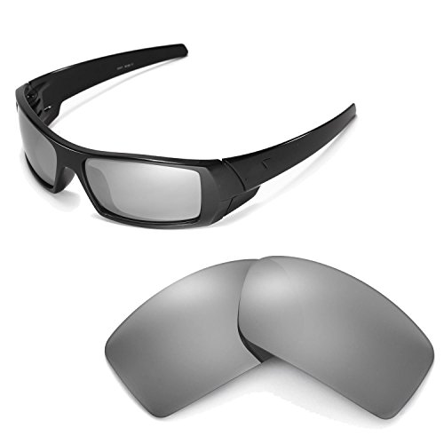 Walleva Replacement Lenses for Oakley Gascan Sunglasses - Multiple Options Available - Oakley Clear Lens Titanium