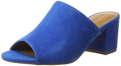 Bianco Suede Mule Sandal Jfm17 - Sandalias Mujer Azul