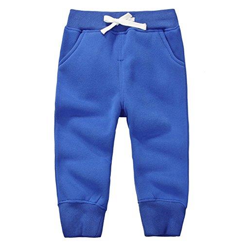 3 Sweatpants - CuteOn Unisex Toddler Jogger Pants Kids Cotton Elastic Waist Winter Baby Sweatpants Pants 1-5Years Blue