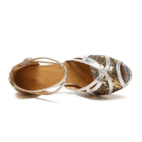femme de Salle 5cm bal Minitoo Heel Gold SZ6gn