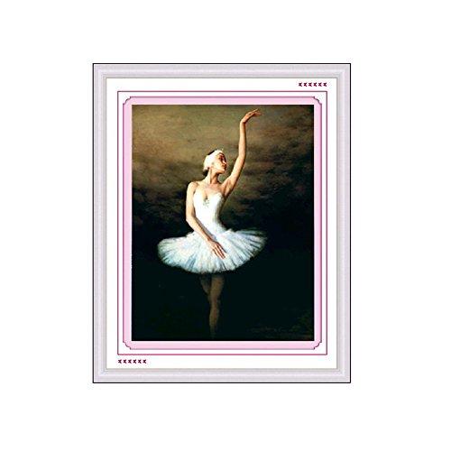 - Baiyu DIY 5D Diamond Painting Angel / Dancer Cross Stitch Round Diamond Stitch Tools Kit Home Room Decoration Wall Sticker 25*35cm-Ballet Dancer