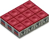 Silver Cup SC-12-RED Chalk Dozen Box, Red. 1 Pack