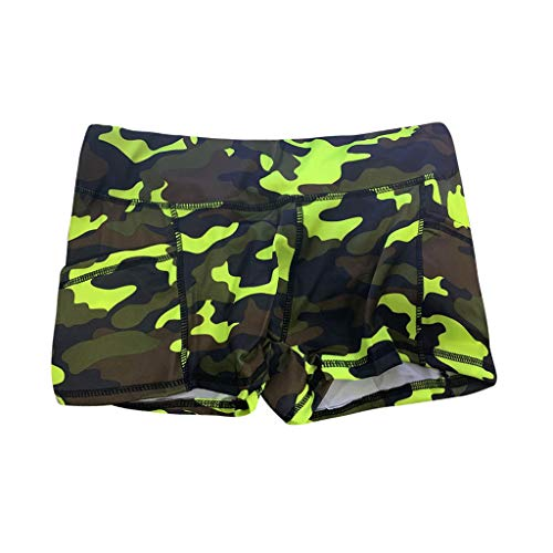 CCatyam Short Pants for Women, Yoga Shorts Trousers Camouflage Print Sports Casual Summer Fashion