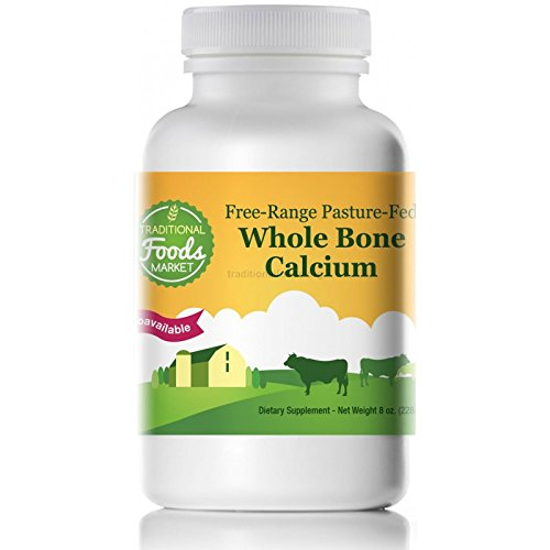 (Whole Bone Calcium - Free-Range & Pasture-Fed, 8oz, by Traditional Foods)