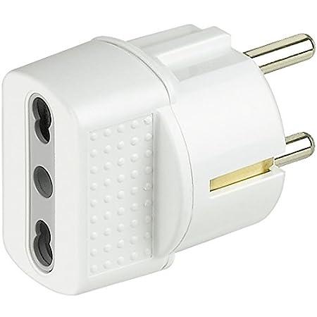 bticino S3625D Adaptador de Enchufe el/éctrico Adaptador para Enchufe Color Blanco