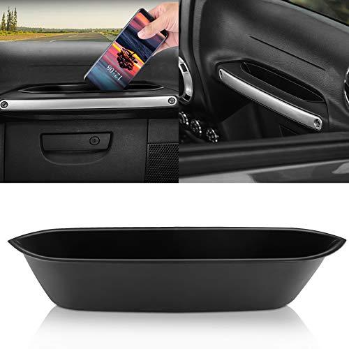 Linkstyle Jeep Wrangler JK JKU GrabTray Passenger Storage Grab Tray Organizer Handle Car Accessories Box for Jeep Wrangler JK JKU 2011-2018 (Black)