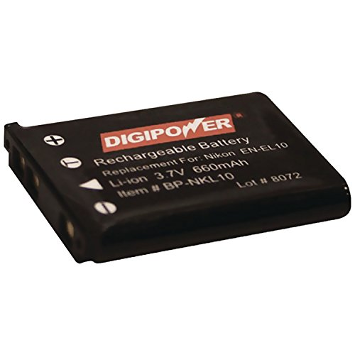 Digipower BP-NKL10 Replacement Li-Ion Battery for Nikon EN-EL10