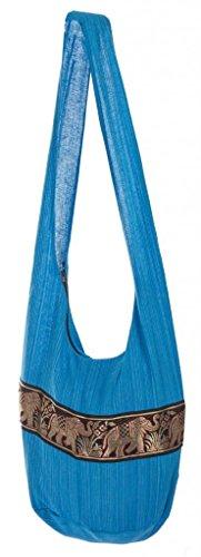 Women's Boho Monk Elephant Lofbaz 1 Cotton Blue Bag Buddhist Crossbody gdffqn
