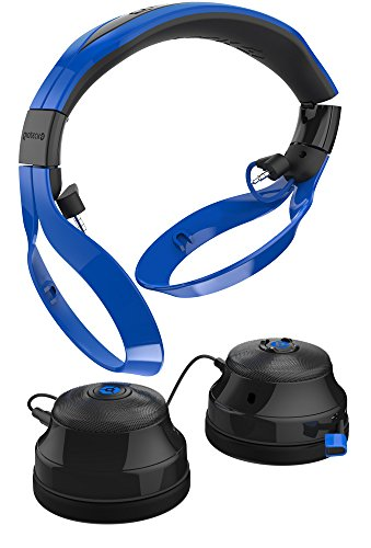 Gioteck FL-300 Wired Stereo Headset with Removable Bluetooth Speakers - Blue by Gioteck (Image #7)