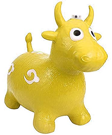 Tickles Yellow Jumping Inflatable Bull Toy for Kids 57 cm