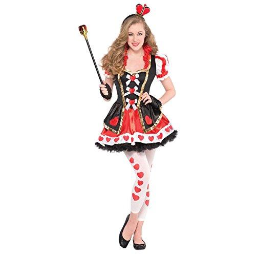 Amscan Juniors Queen Of Hearts Costume Size Medium (7-9)