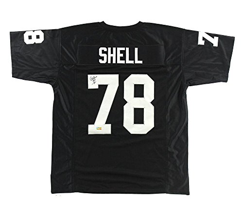 Art Shell Signed Oakland Raiders Black Custom Jersey with