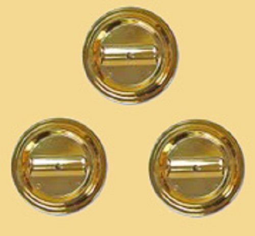 (Lucite Piano Caster Cups, Brass-Plated, Set of 3 for Grand Pianos - Virtually Indestructible)