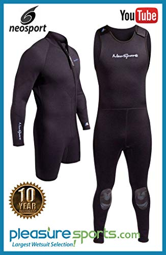 Henderson 3mm NeoSport Waterman Mens 2-Piece Wetsuit Combo-Long John & ()