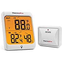 ThermoPro TP63 Indoor Outdoor Thermometer Wireless...
