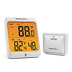 Thermopro Tp63 Digital Wireless Hygrometer Indoor Outdoor Thermometer Wireless Temperature And Humidity Monitor With Cold Resistant And Waterproof Humidity Gauge 200ft 60m Range