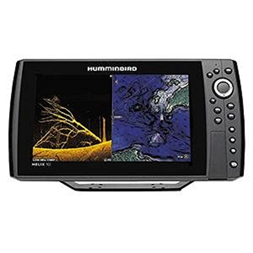 Johnson Outdoors Hummingbird 410510-1 Helix 10 Chirp Mega DI GPS G2N Fishing-Charts-and-maps, Black For Sale