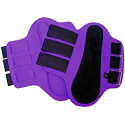 Intrepid International Splint Boots with Black Patches, Small, Purple