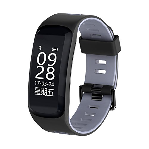 Sport Activity Tracker,Smart Bracelet,Fitness Tracker Watch, Smart Bracelet for for Android and iOS Smart Phone - Gray by Sammid