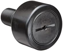 "McGill CF1S Cam Follower, Standard Stud, Sealed/Slotted, Inch, Steel, 1"" Roller Diameter, 5/8"" Roller Width, 1"" Stud Length, 7/16"" Thread Size, 1-21/32"" Overall Length, 0.438"" Stud Diameter"