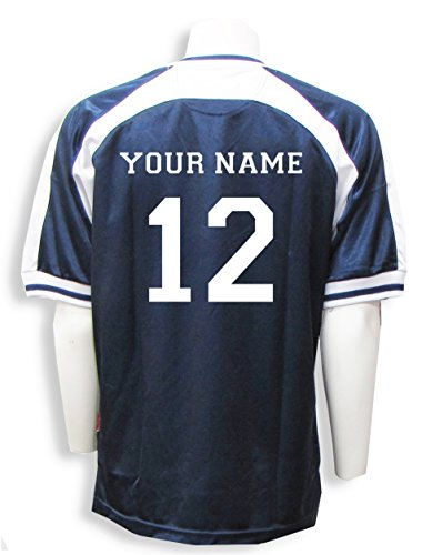 Spitfire soccer goalie jersey with your name and number - size Youth L - color Navy/White