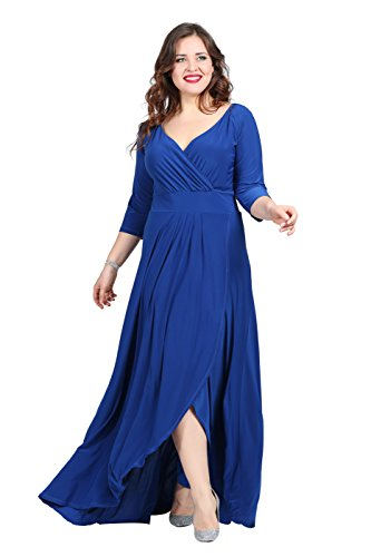 para 3 manga 4 Vestido mujer vestido Angelino Azul w6Z8TZ