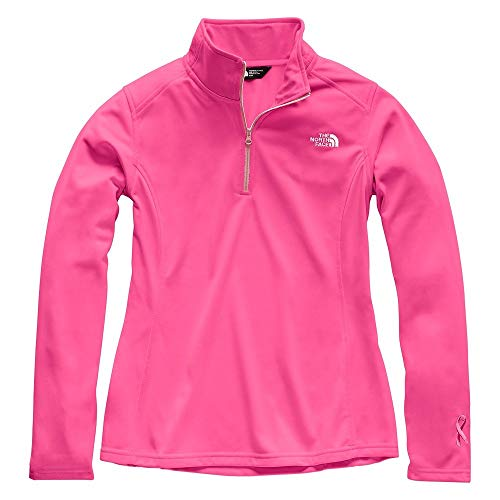 - The North Face Women Pr Tech Glacier Quarter Zip - Raspberry Rose & Purdy Pink - M