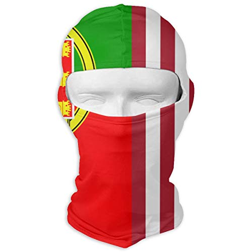 (TARDIGA Portugal and American Flag Winter Cycling Full Face Mask Dust Proof Balaclava Hood for Men and Women)