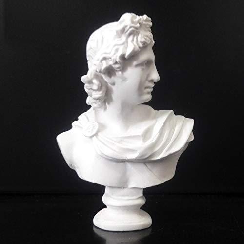 VAXMON Mini Apollo Head Statue Resin Figurine Head and Bust Sculpture Home Decor Sketch Ornaments 2.7