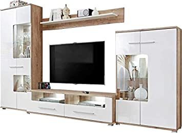 Pleasing Magnificent Living Room Combo Tv Cabinet Entertainment Units Display Cabinets Storage Unit Monument Oak Mat White Gloss Led Saala 3 Download Free Architecture Designs Scobabritishbridgeorg