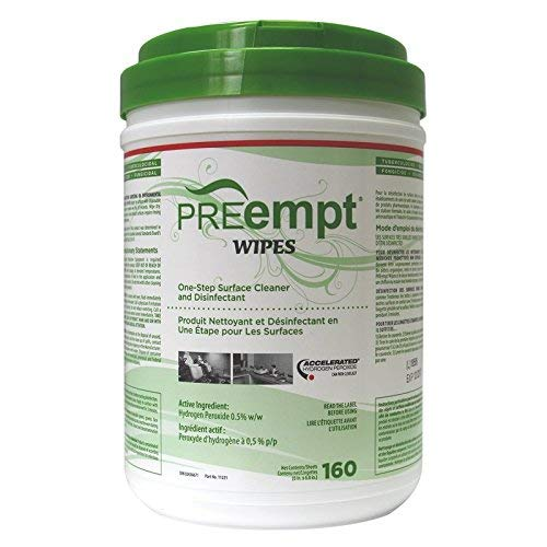 Accel Preempt Cleaner for Surfaces Wipes - 160 Wipes, 1 Kg