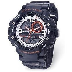 Wrist Armor Men's 'U.S. Air Force' Quartz Black Casual Watch (Model: 37300019)