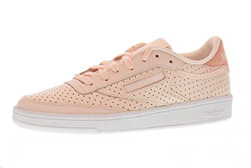 Reebok Damen Club C 85 Popped Perf Sneaker Pink (Pale Pink/Chalk Pink/White 000)