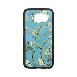 Samsung Galaxy S6 Cell Phone Case White Van Gogh Almond Blossoms I8269212