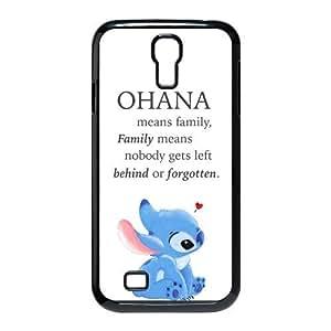 Fashion Lilo and Stitch OHANA Ultra Slim Fit Hard Case Cover for Samsung Galaxy S4