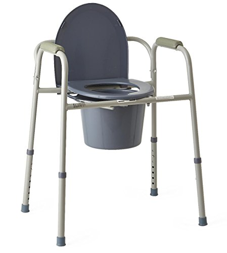Bed Side Commode (Invacare 9650-4 All-In-One Aluminum Commode)