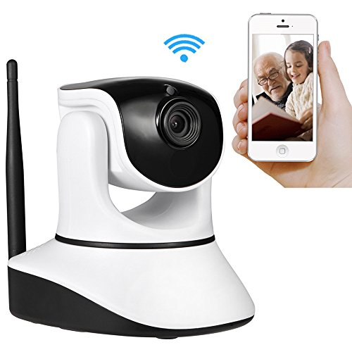 Wireless Security Camera,720P HD Home WiFi Wireless Security Surveillance Camera with Motion Detection Pan/Tilt, WiFi Security IP Camera with iOS/Android App,Pan/Tilt with 2-Way Audio (Camera Security Set Wireless)